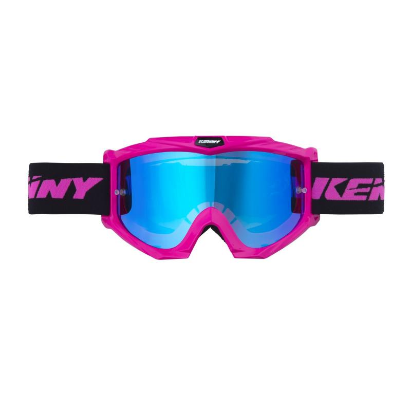 Masque cross Kenny Track + rose fluo
