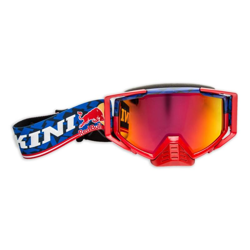Masque cross Kini Red Bull Competition bleu marine/rouge