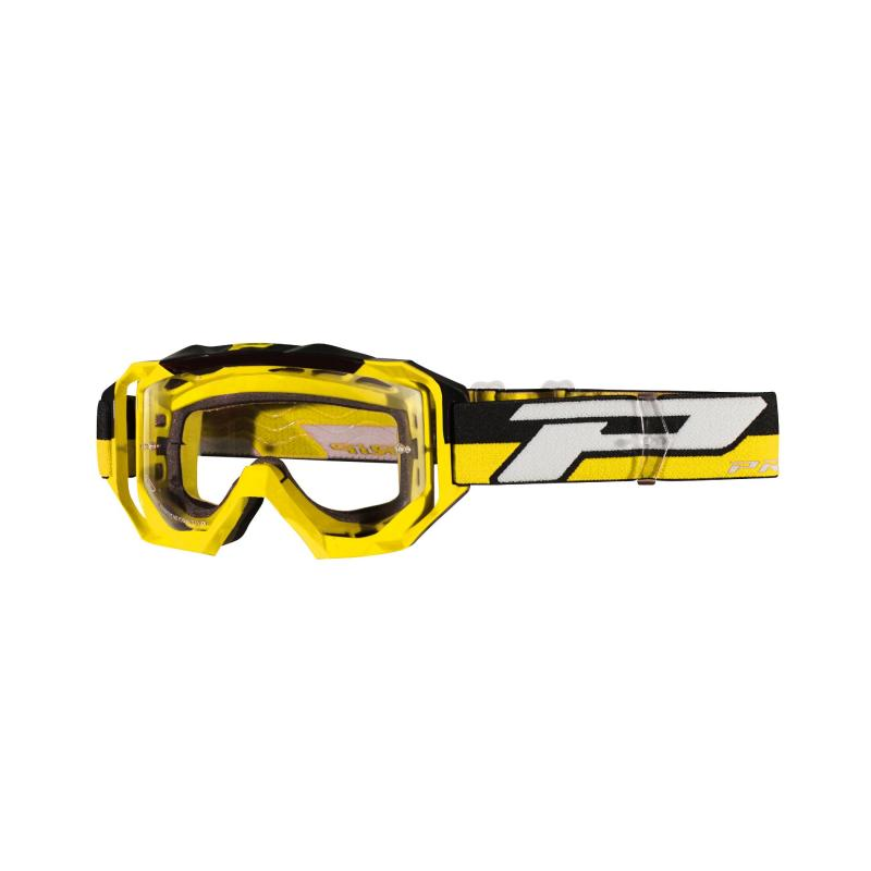 Masque cross Progrip 3200 LS jaune/noir écran light sensitive