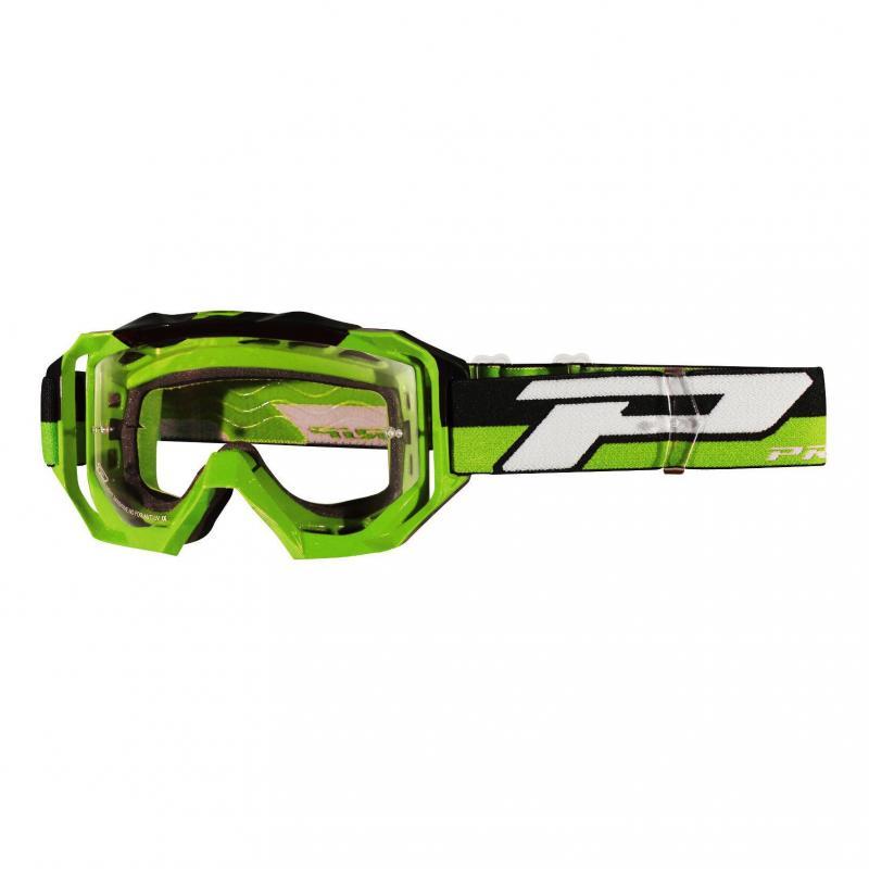 Masque cross Progrip 3200 LS vert/noir écran light sensitive