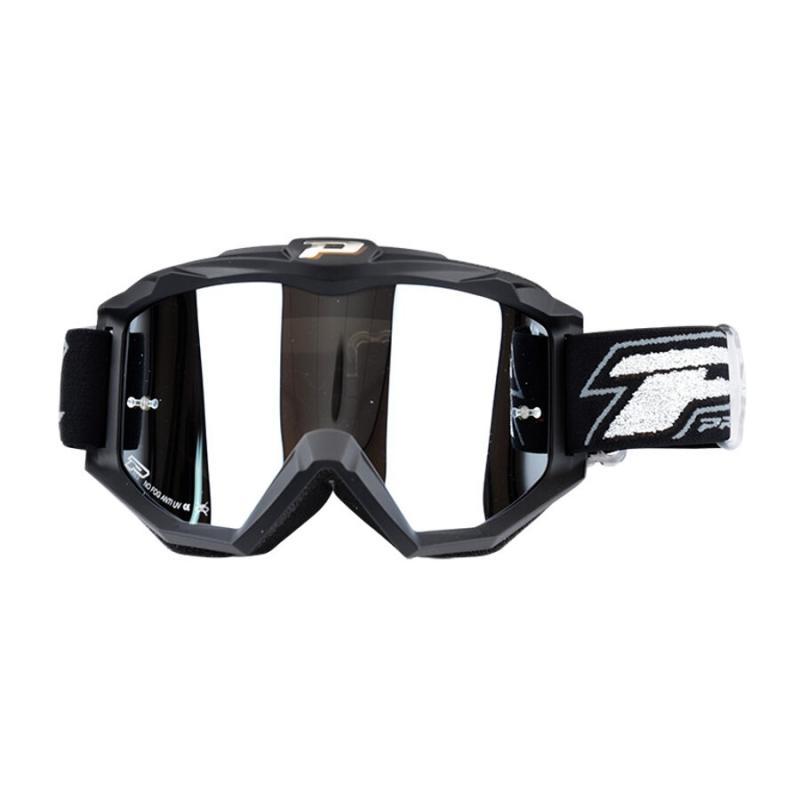 Masque cross Progrip 3204 noir mat / écran argenté