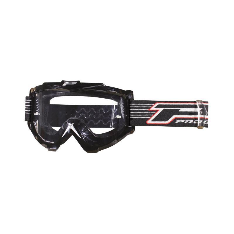 Masque cross Progrip 3301 Noir Antibuée / anti-rayure avec Cache Nez Démontable