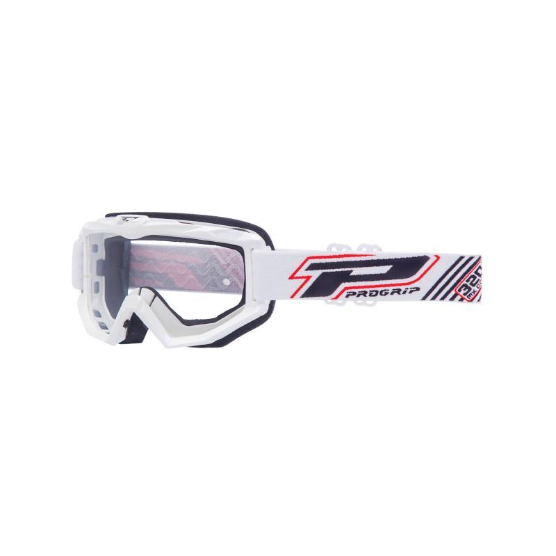 Masque cross Progrip Dual Race 3201 blanc