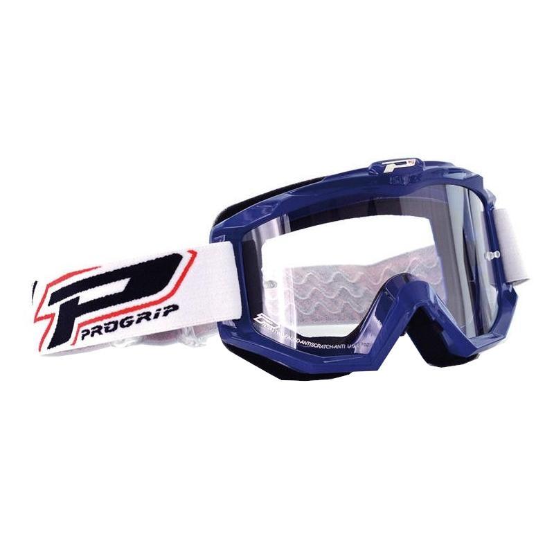 Masque cross Progrip Dual Race 3201 bleu