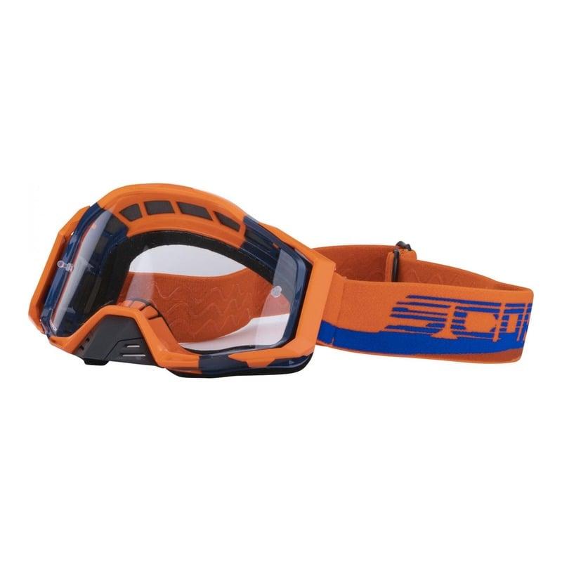 Masque cross Scorpion 2021 orange/bleu