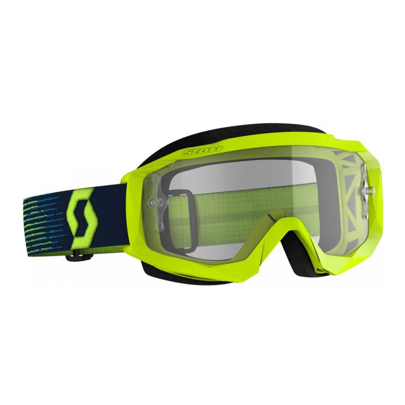 Masque cross Scott Hustle X MX jaune/bleu- écran transparent