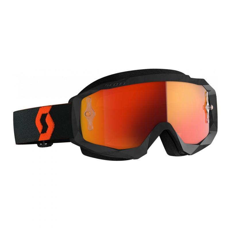 Masque cross Scott Hustle X MX orange/noir- écran chrome orange