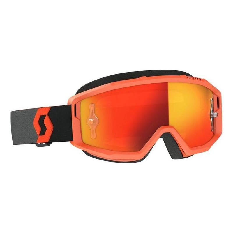 Masque cross Scott Primal orange/noirt – écran Works chrome orange
