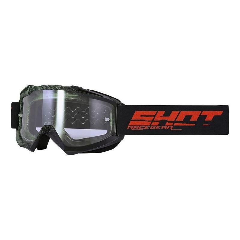 Masque cross Shot Assault Elite mat noir/kaki