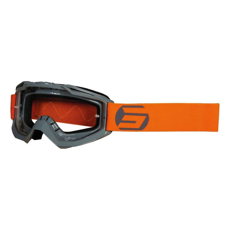 Masque cross Shot Assault Symbol brillant gris/orange