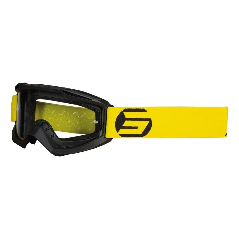 Masque cross Shot Assault Symbol mat noir/jaune