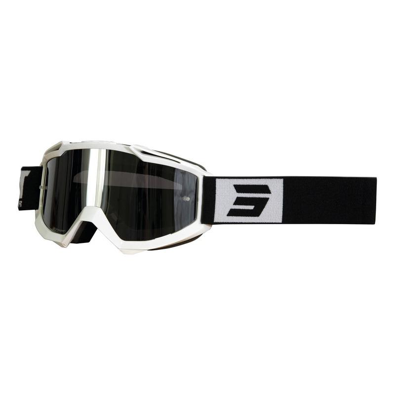 Masque cross Shot Iris Fashion brillant blanc/noir