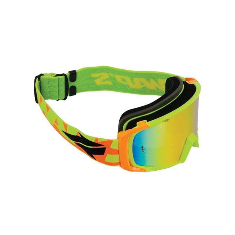 Masque cross Swaps jaune/orange écran iridium or/reflet orange + clair
