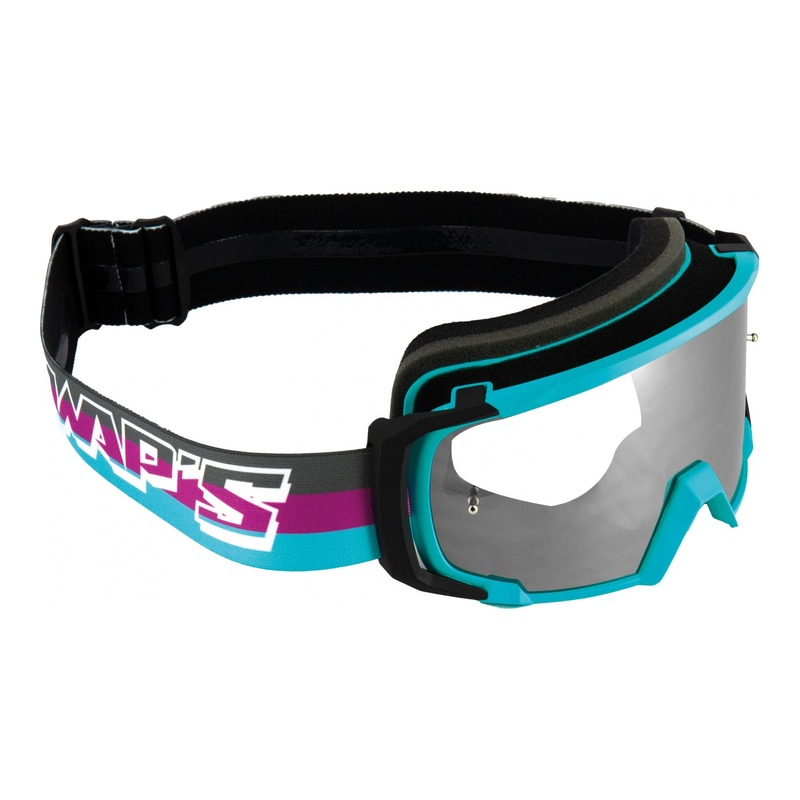 Masque cross Swaps Scrub V2 noir/violet/bleu écran clair