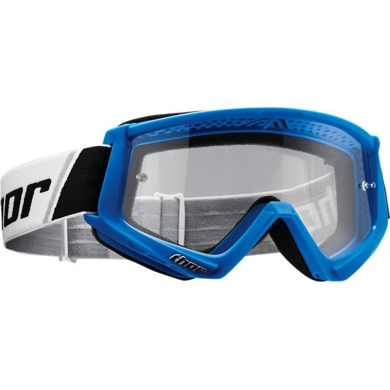Masque cross Thor Combat bleu/blanc