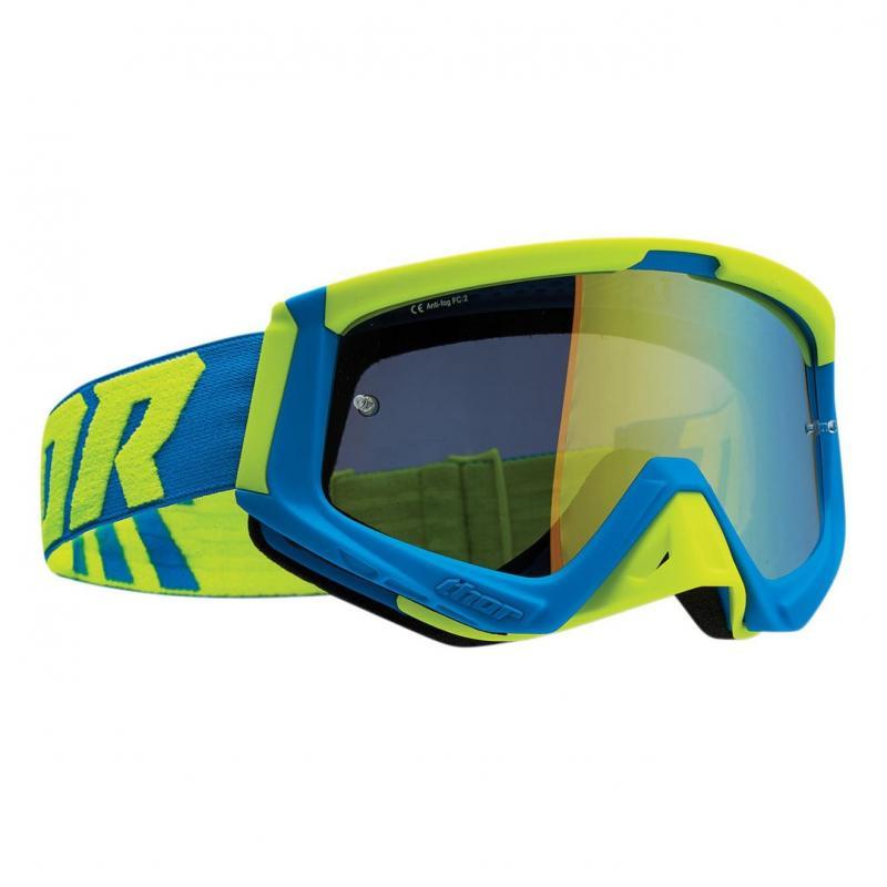 Masque cross Thor Sniper bleu/vert fluo