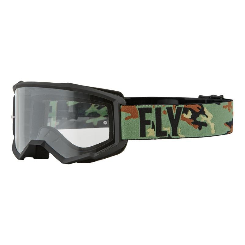 Masque enfant Fly Racing Focus vert/camouflage/noir- écran transparent