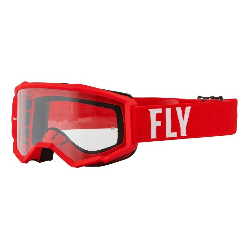 Masque Fly Racing Focus rouge/blanc- écran transparent