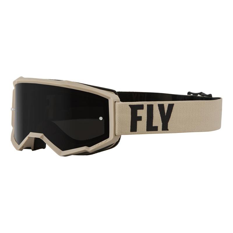 Masque Fly Racing Focus Sand kaki/marron- écran fumé foncé