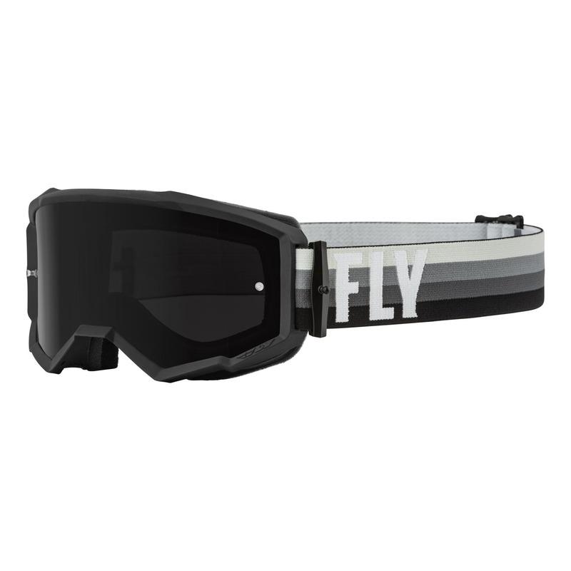 Masque Fly Racing Zone noir/gris- écran fumé foncé