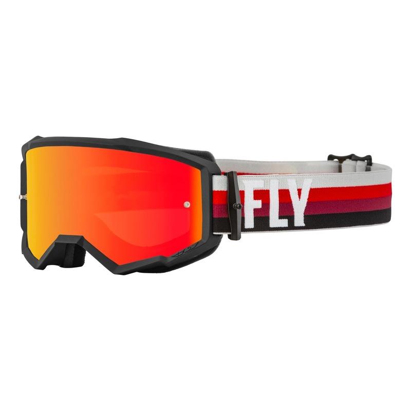 Masque Fly Racing Zone noir/rouge- écran iridium rouge/ambre