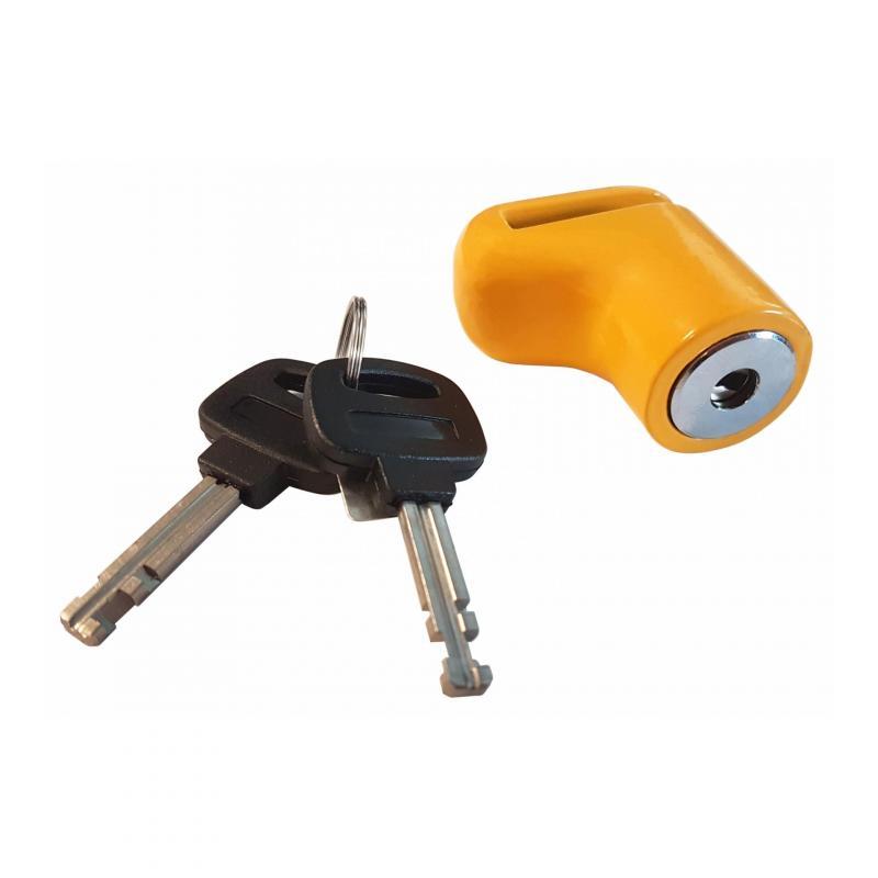 Mini bloque disque scooter jaune axe 6 mm