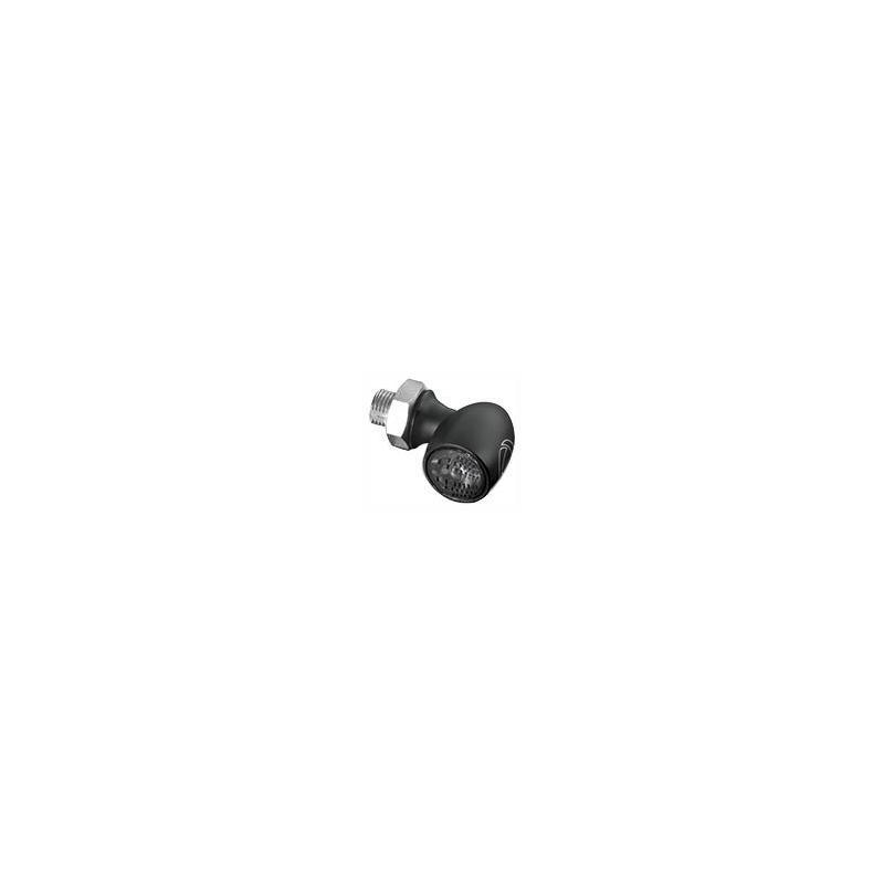 Mini feu arrière Kellermann Atto noir verre fumé montage horizontale