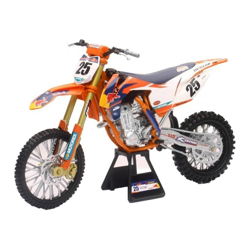 Moto miniature New Ray KTM Red Bull 450 SX-F Racing Marvin Musquin 1/6°