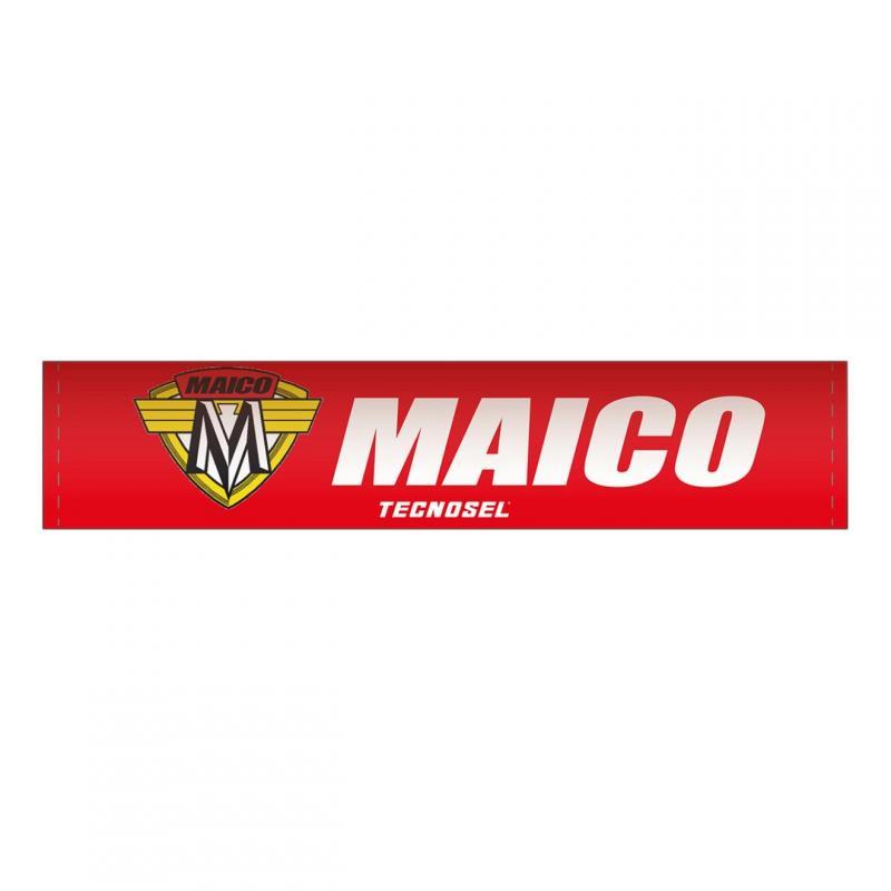 Mousse de guidon Tecnosel Maico rouge/blanc