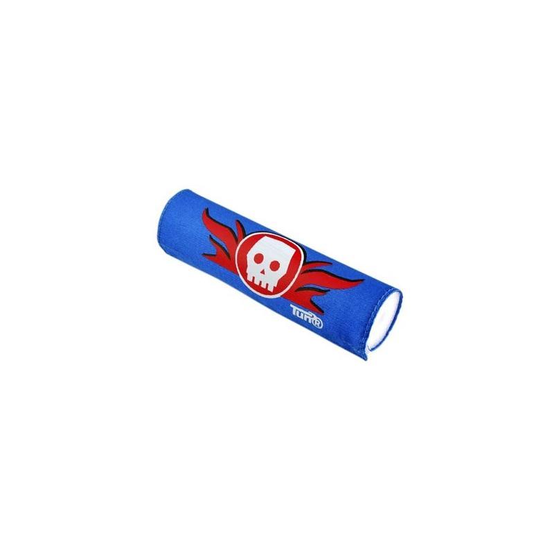 Mousse de Guidon Tun'R Tête De Mort Bleu/Rouge