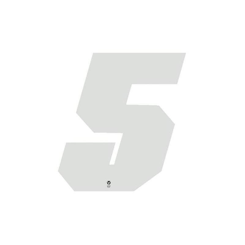 Numéro 5 YCF hauteur 11 cm blanc (3 pièces)