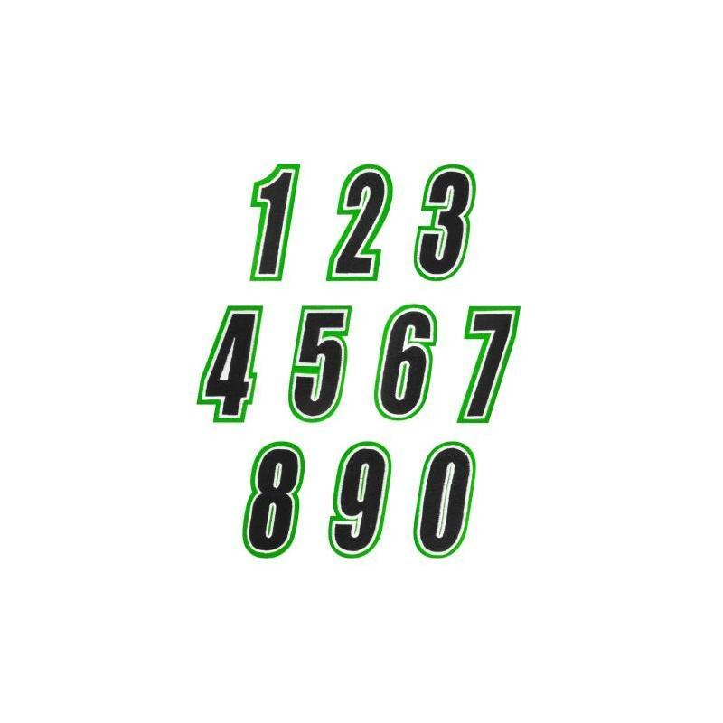 Numéro de course American Kargo vert/noir