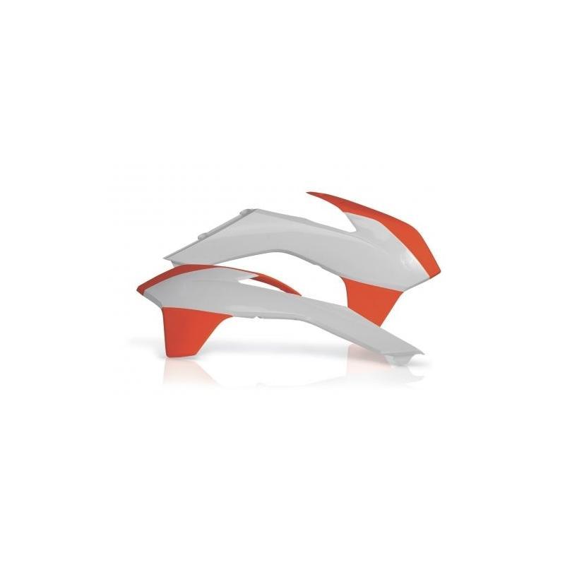 Ouïes de radiateur Acerbis KTM 450 SX-F 13-15 orange/blanc