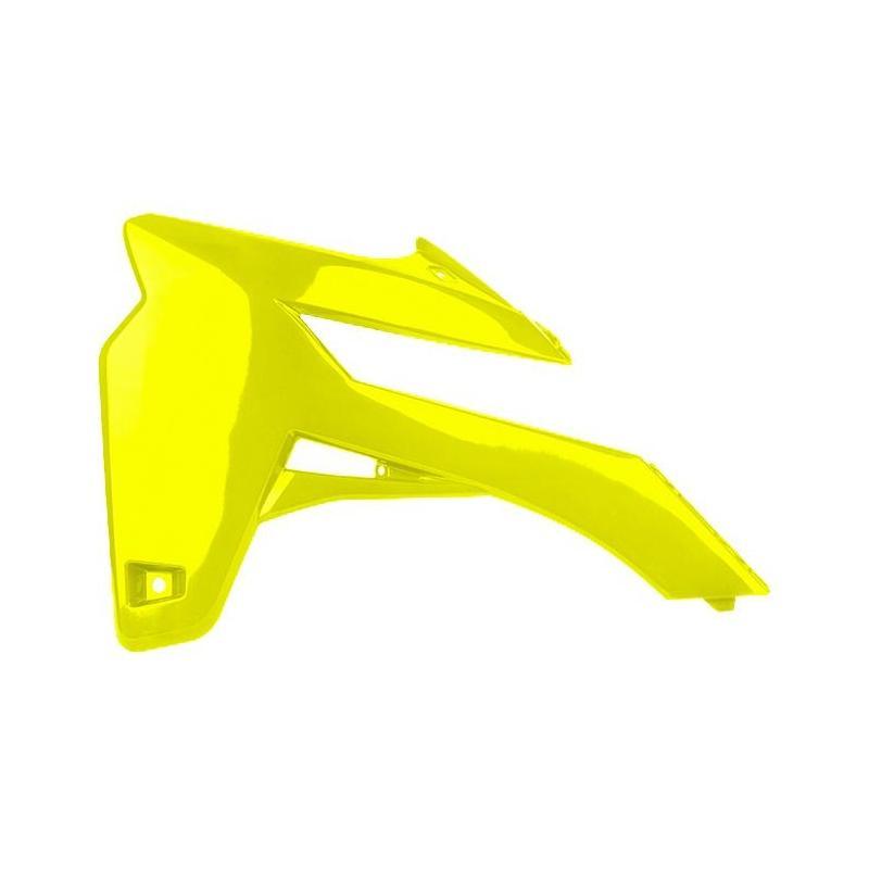 Ouïes de radiateur Polisport Sherco 250 SE F-R Factory 14-15 jaune fluo