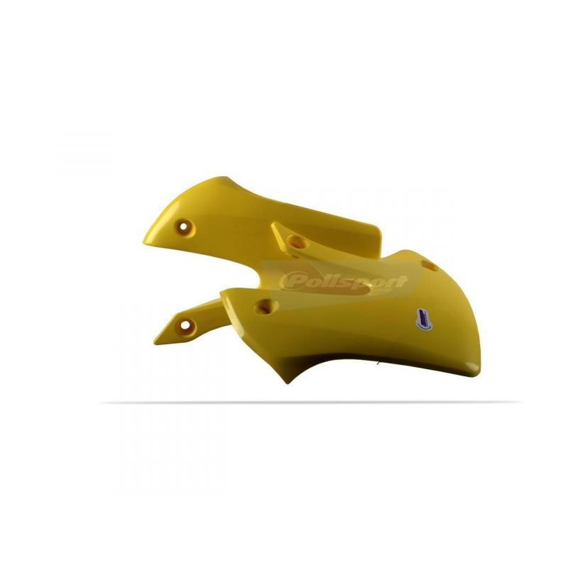 Ouïes de radiateur Polisport Suzuki 65 RM 03-05 jaune
