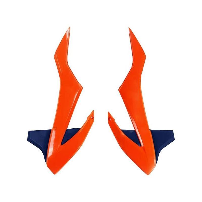 Ouïes de radiateur UFO KTM 85 SX 18-21 orange fluo/bleu