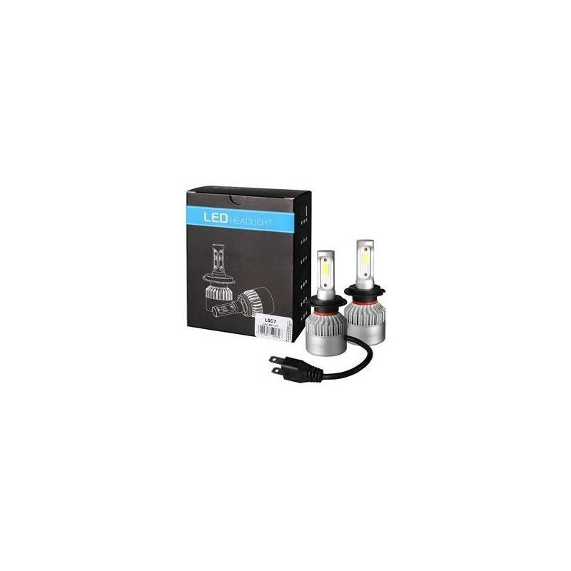 Pack 2 ampoules H7 à LED 12V culot PX26D 8000 lumens 6500K