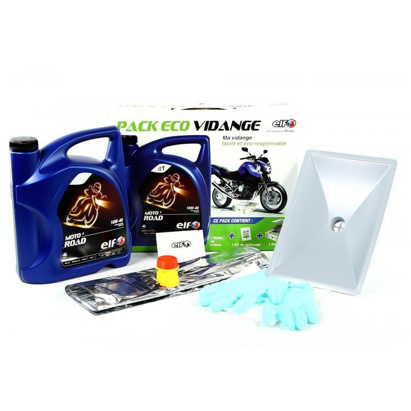 Pack Eco Vidange Moto Elf 10W40 4L