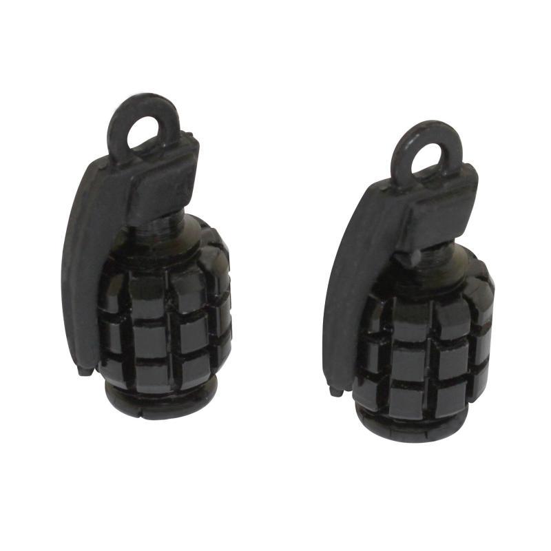 Paire de bouchons de valve Replay grenade noir