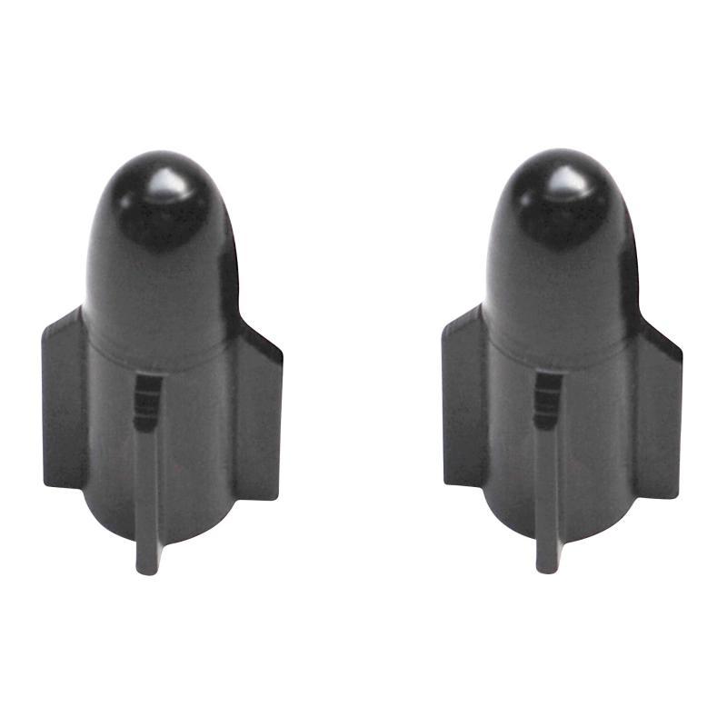 Paire de bouchons de valve rocket alu noir