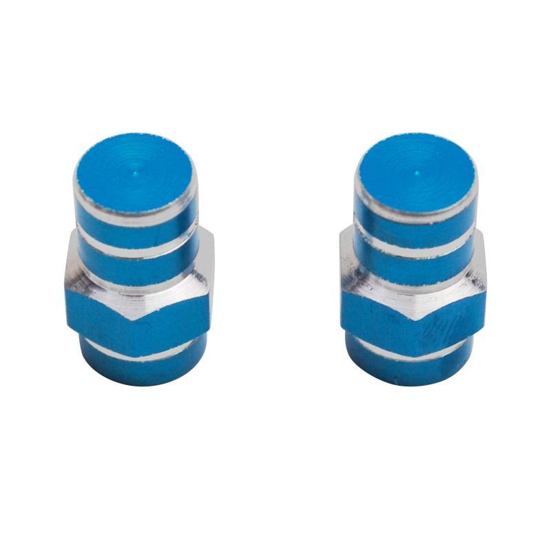 Paire de Bouchons de Valve Tun'R 6 Pans Bleu