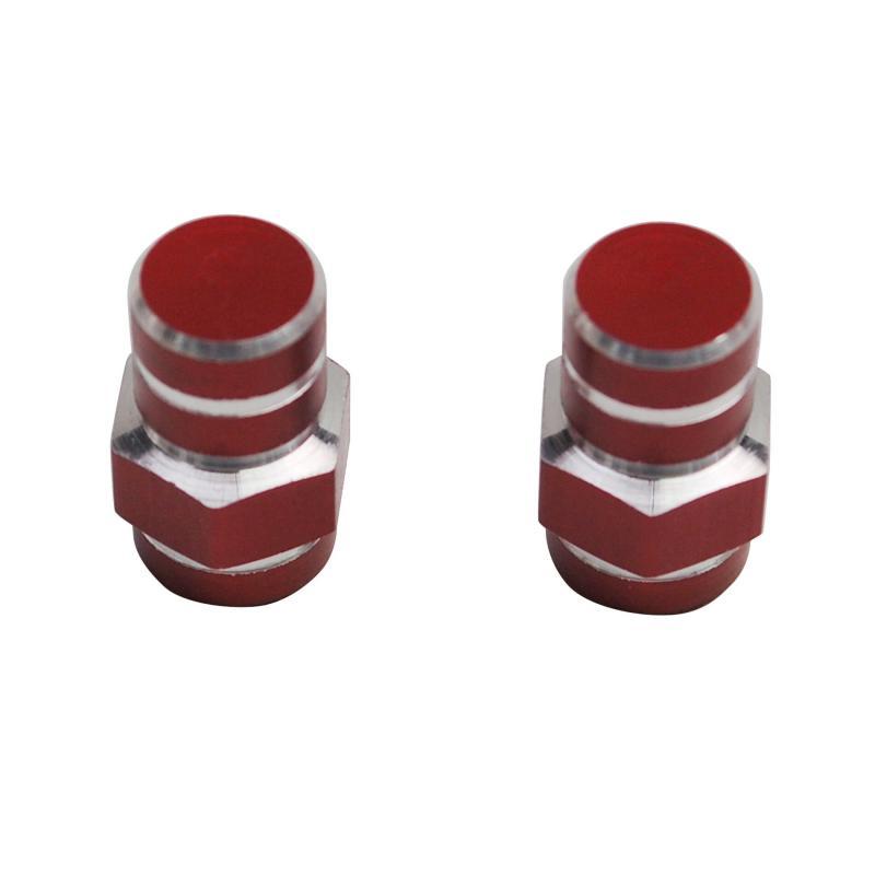 Paire de Bouchons de Valve Tun'R 6 Pans Rouge