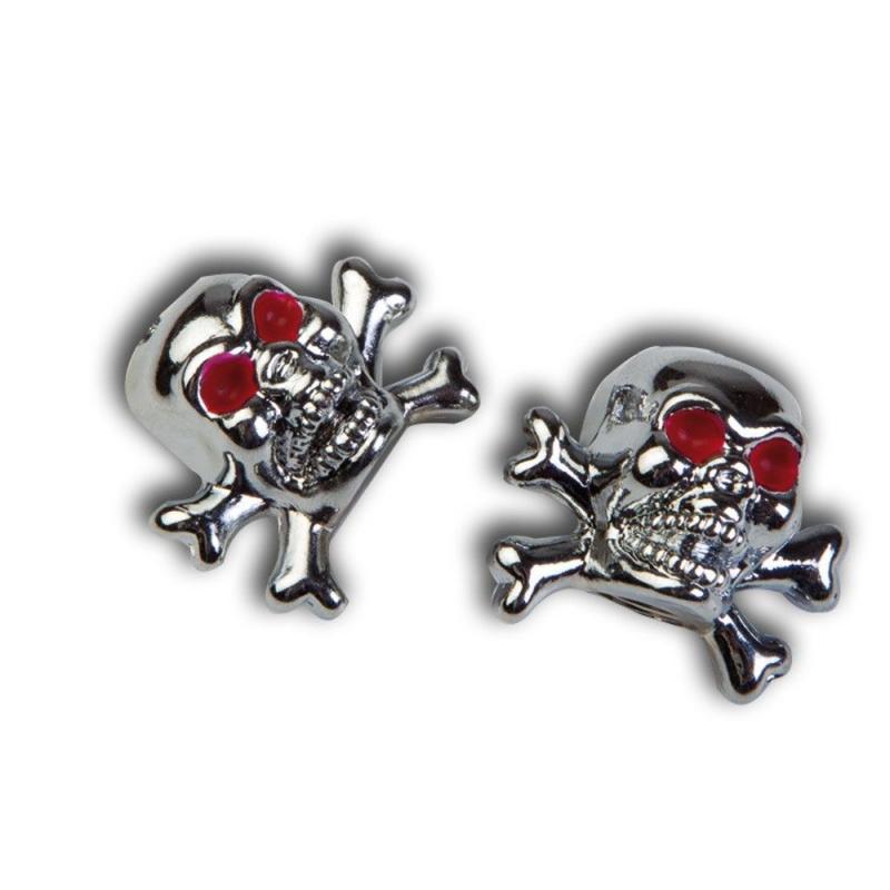 Paire de Bouchons de Valve Tun'R Skull Chrome