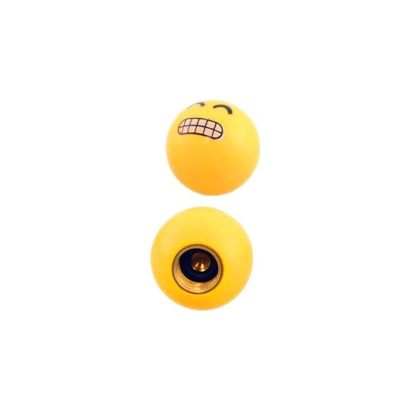 Paire de bouchons de valves Brazoline Smiley