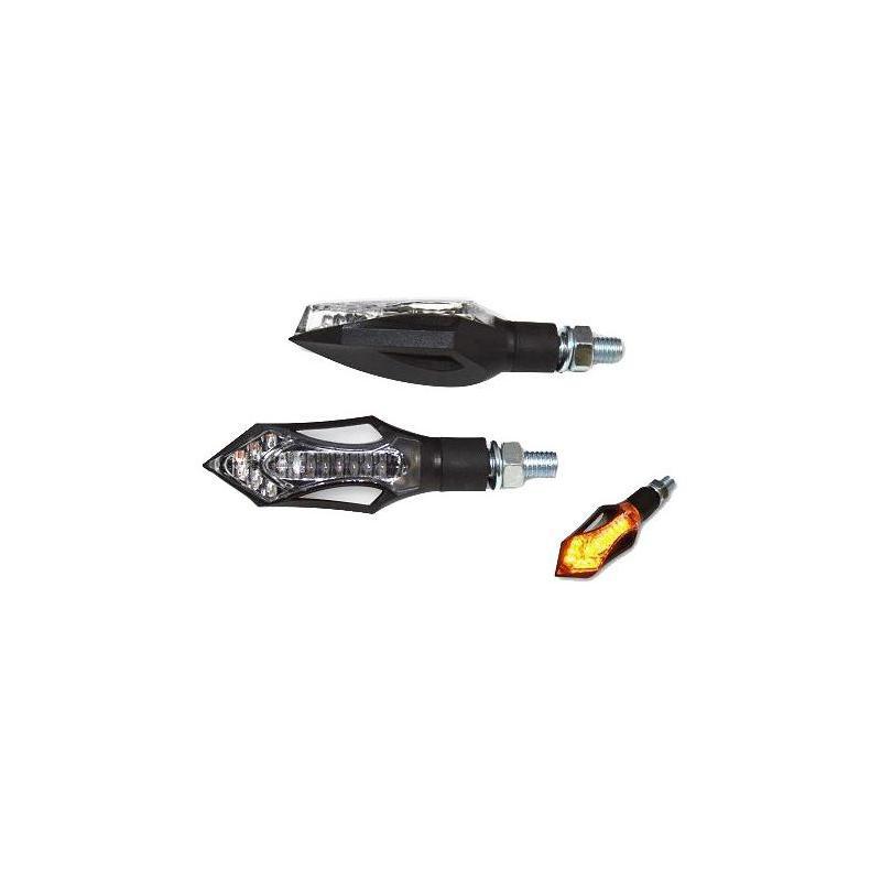 Paire de clignotants Brazoline LED Hatch noir