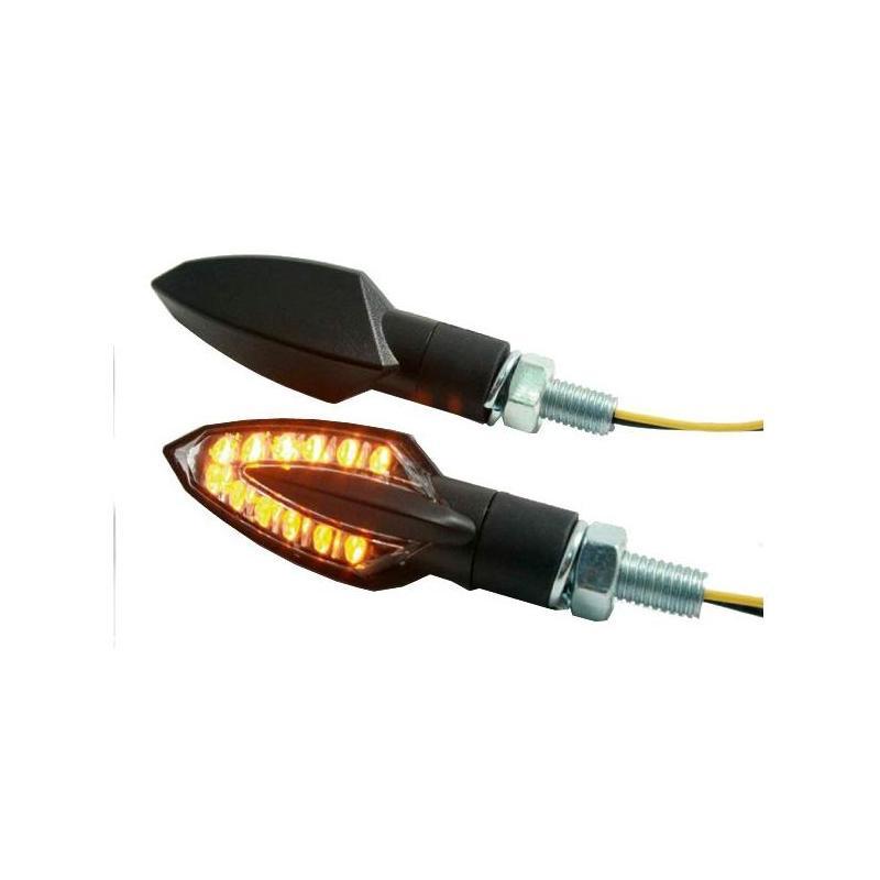 Paire de clignotants Brazoline LED Vinci noir