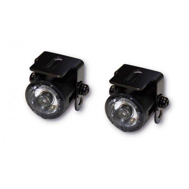 Paire de phares de position à LED Brazoline Ø 24,7 mm avec support