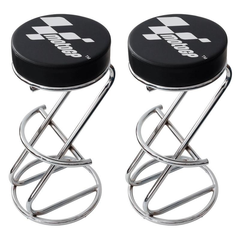 Paire de tabourets de bar MotoGP