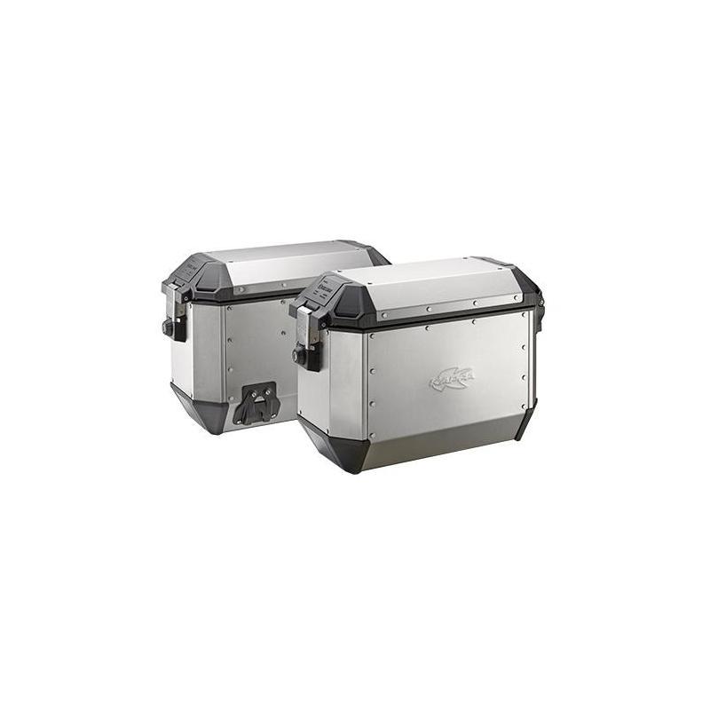 Paire de valises latérales Kappa K-Mission 36+36 Litres aluminium