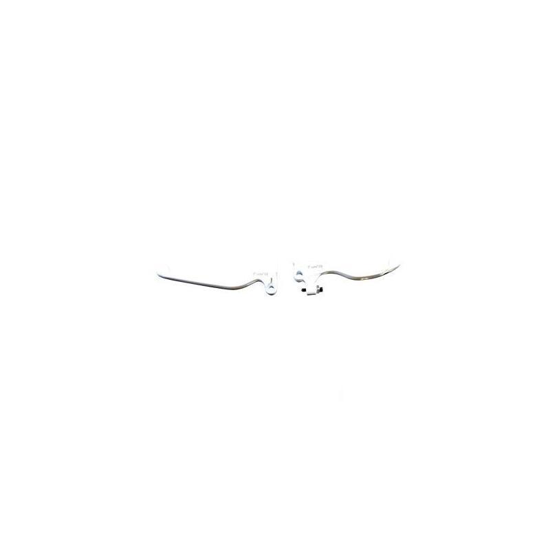 Paire leviers Sherco 50 SE / SM 2011- blanc